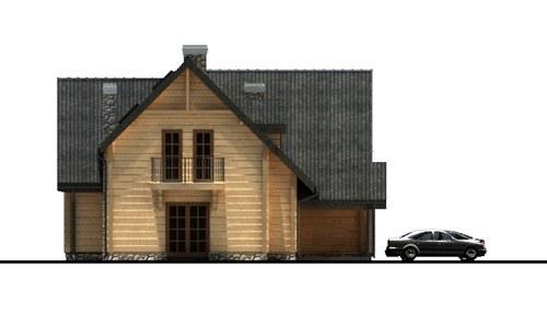 D165 - Mietek wersja drewniana - Elewacja prawa