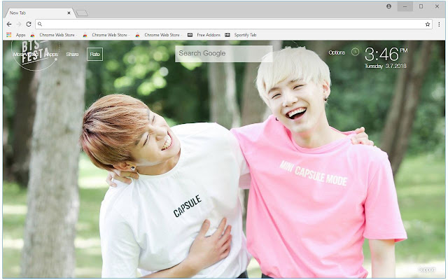 Suga & Jungkook BTS Wallpapers Sukook New Tab