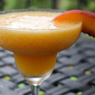 Frozen Peach-Mango Margaritas & Mockaritas
