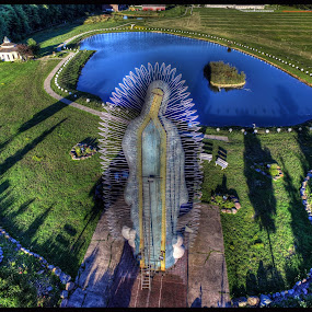 Our Lady of Guadalupe by James Rudick - Buildings & Architecture Statues & Monuments ( religious, statue, aerial, drone, landscape,  )