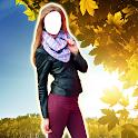 Woman Jacket Photo Montage icon