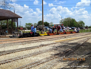 Photo: Engineer Pete Greene talking with Gary Brothers     HALS Public Run Day 2014-0419 DH3