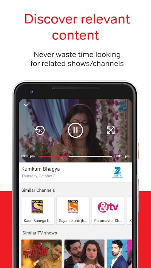 Airtel TV: Movies, TV series, Live TV- screenshot