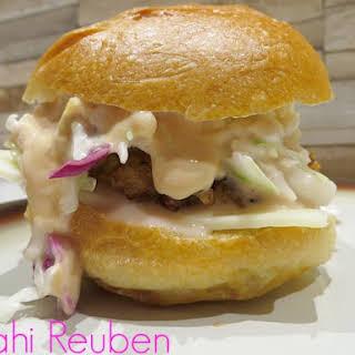 Mahi Reuben Sandwiches.