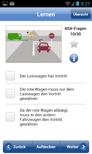 Fahrlehrer24 does not provide englisch. screenshot