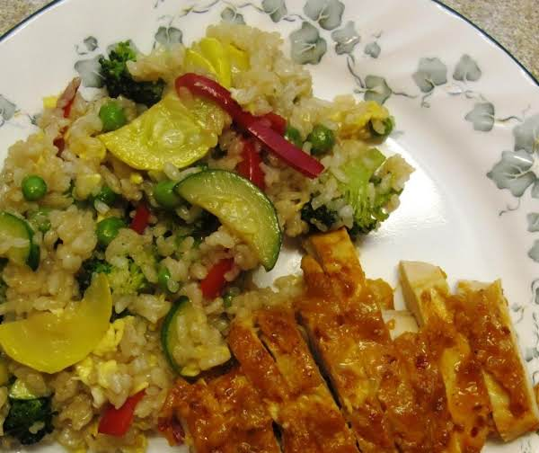 Thai Style Chicken & Vegetable Rice Recipe