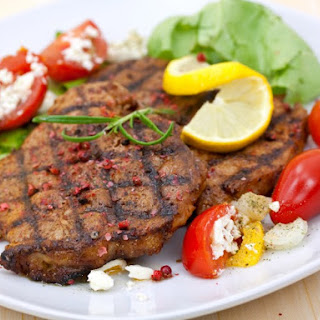 Grilled Pork Cutlet with Rosemary.
