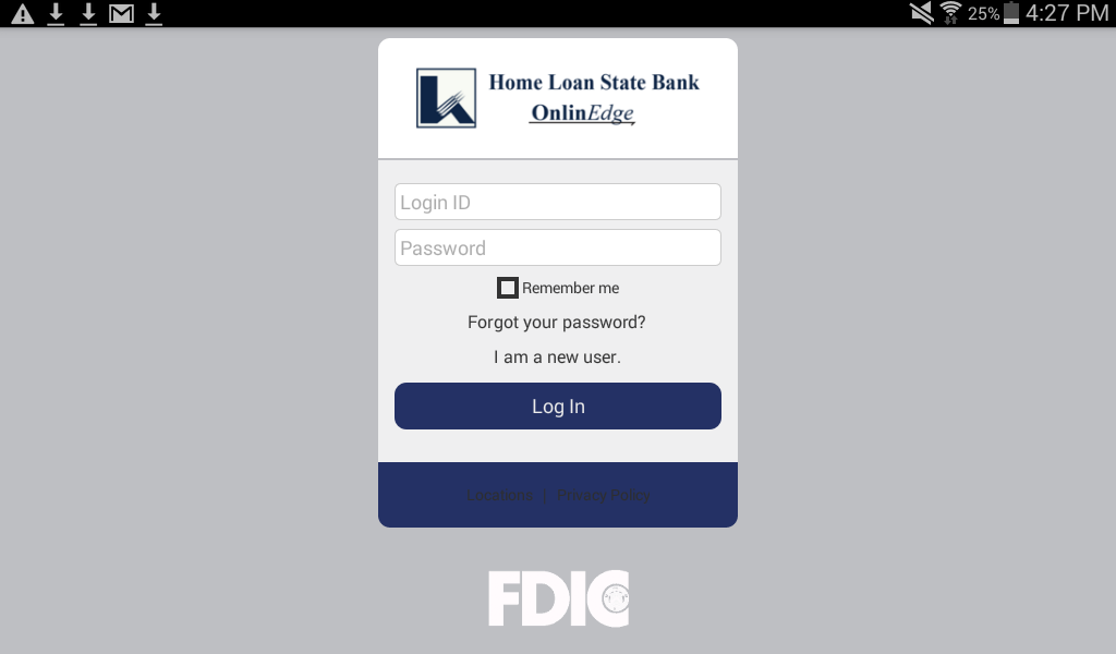 Home Loan State Bank MobilEdge- screenshot