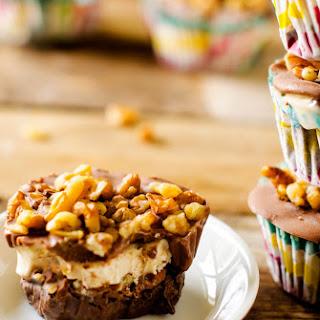 Chocolate & Salted Caramel Frozen Cupcakes.