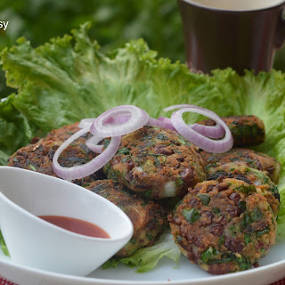Rajma Palak Cutlet (Red Kidney bean Spinach Cutlet).