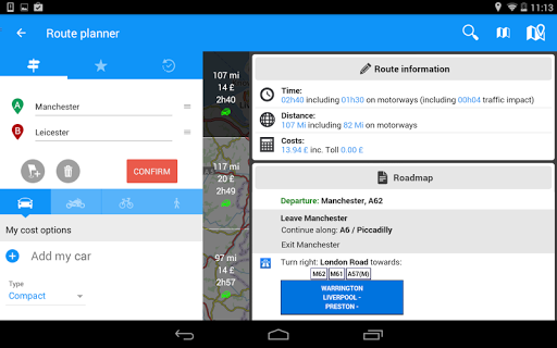 ViaMichelin Route planner,maps screenshot 16