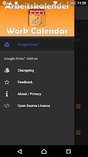 Work Calendar Google Drive - náhled