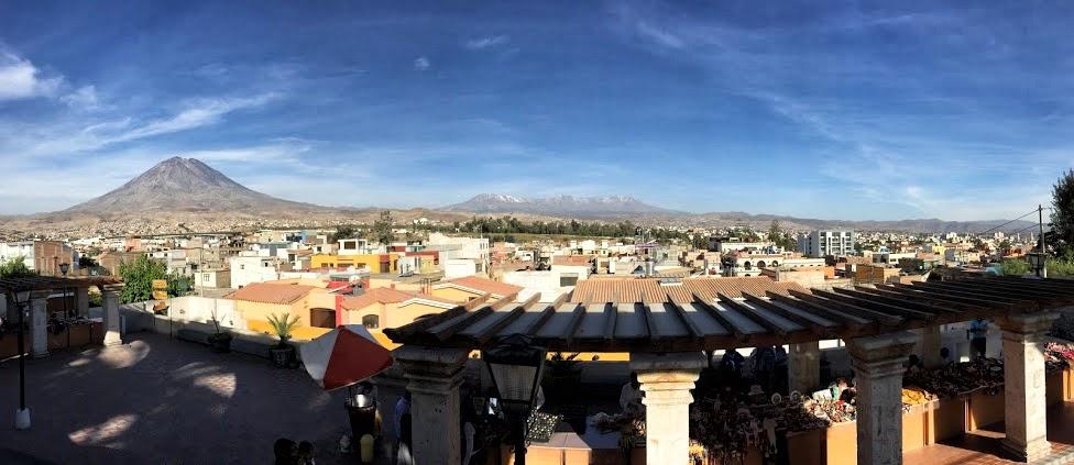 Arequipa - widok na wulkan Misti