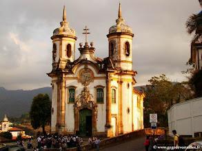 Photo: BRESIL-Ouro Preto. L'Eglise Saint François d'Assise.