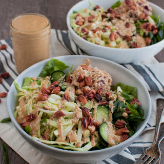 Tuna Power Salad with Peanut Dressing