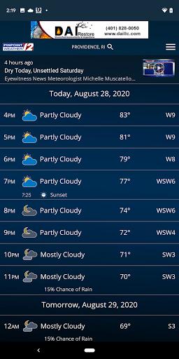 WPRI Pinpoint Weather 12 screenshot 1