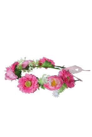 Blomsterkrans, rosa med vit blomma