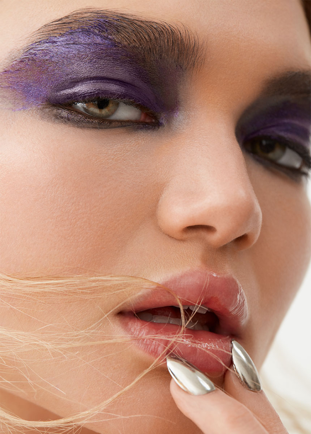 Beauty editorial including makeup from Chanel and Bobbi Brown.