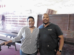 Kasi Shade managing director Sello Modikoane and his wife Nthabiseng are business partners.