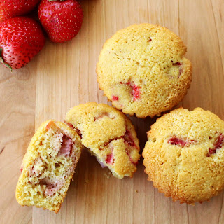 Strawberry Corn Muffins.
