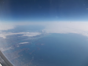 Photo: Passing over Greenland.  Lots of beautiful lakes which I'm sure were freezing!