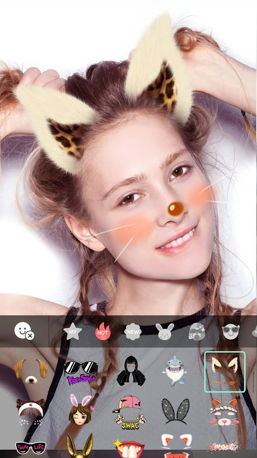 Candy Selfie Camera - Photo Editor, Kawaii Photo: captura de tela