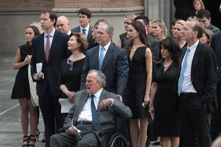 George H W Bush Hospitalised Day After Wife S Funeral
