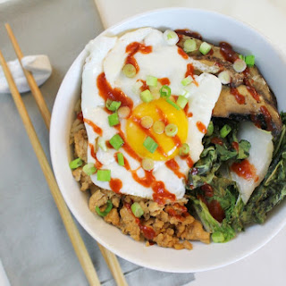 Chicken, Bok Choy & Mushroom Rice Bowl