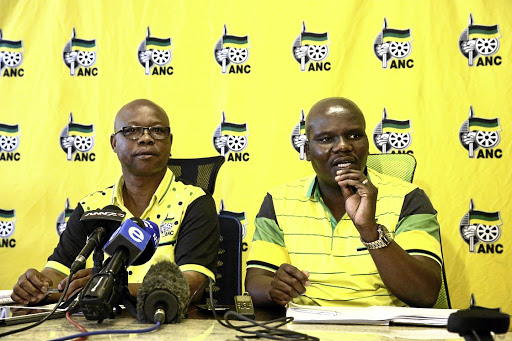 Provincial contenders: Mdumiseni Ntuli, right, is tipped to win the position of ANC provincial secretary in KwaZulu-Natal. Former secretary Super Zuma, left, has also been nominated for the post. Picture: THULI DLAMINI