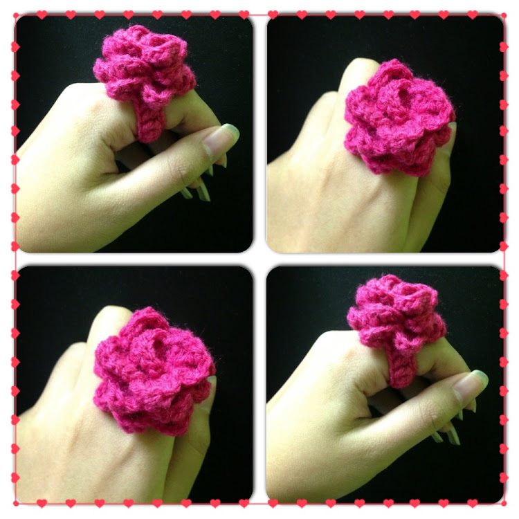 Layered flower ring by Ricincraft