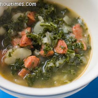 Portuguese Kale and Chorizo Soup (Caldo Verde)