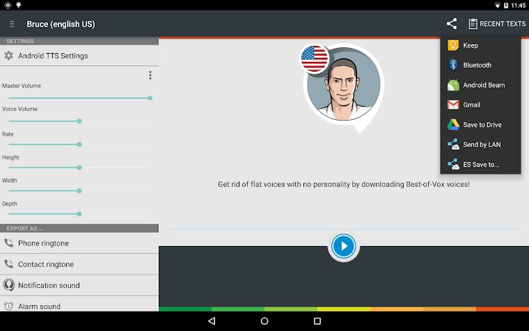 Bruce TTS voice (Engish US) Screenshot