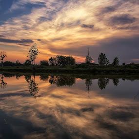 Cloudy sunset by Vanja Vidaković - Landscapes Sunsets & Sunrises