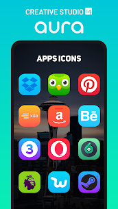 Aura Icon Pack – Rounded Square Icons Patched APK 4