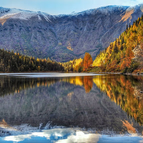 From The Edge Of The Lake by Patricia Phillips - Landscapes Travel ( alaska lakes jerome reflections autumn )