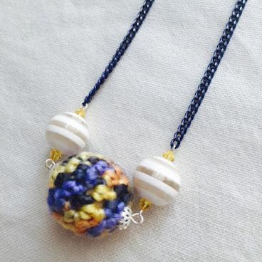 施華洛水晶手鈎小球頸鏈