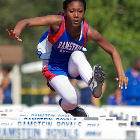 by John Crongeyer - Sports & Fitness Running ( hurdles, competing, jumping, track, sport, race )