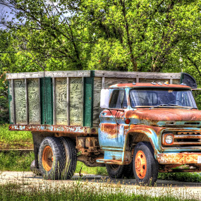 Grain Truck by Jackie Eatinger - Transportation Automobiles (  )