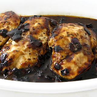 Skinny Chicken with Raspberry-Balsamic Sauce.