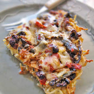 Gluten-Free Pasta Frittata Recipe with Goat Cheese.