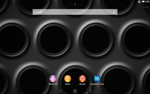 XPERIAu2122 Black Steel Theme  screenshots 6