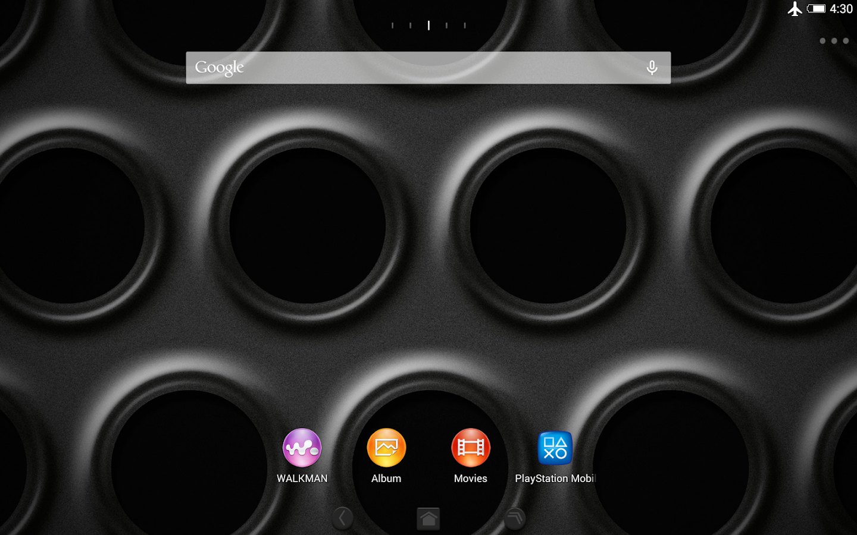 Google uk themes - Xperia Black Steel Theme Screenshot
