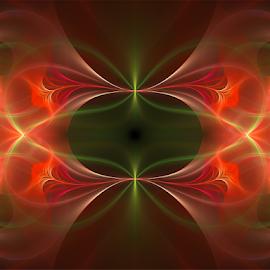 Floral by Cassy 67 - Illustration Abstract & Patterns ( orange, floral design, wallpaper, digital art, fractal art, flowers, fractal, digital, fractals, floral, flower )