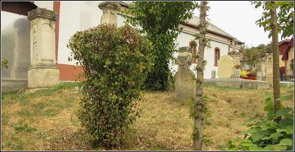 "Photo: Turda, Str. Sirenei, Nr.17 -  ""Biserica Dintre Români"" vedere in curte, morminte  - 2019.09.24"