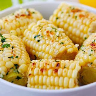 Garlic-Herb Butter Roasted Corn
