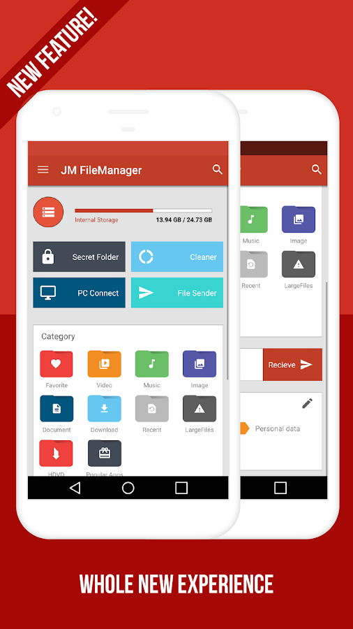 JM FileManager (File transfer, Vault, Cleaner)- screenshot