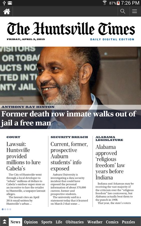 The Huntsville Times - screenshot