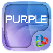 Purple Go Launcher Theme