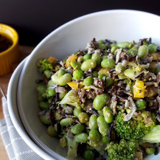 WILD RICE AND BROCCOLI SALAD WITH EDAMAME