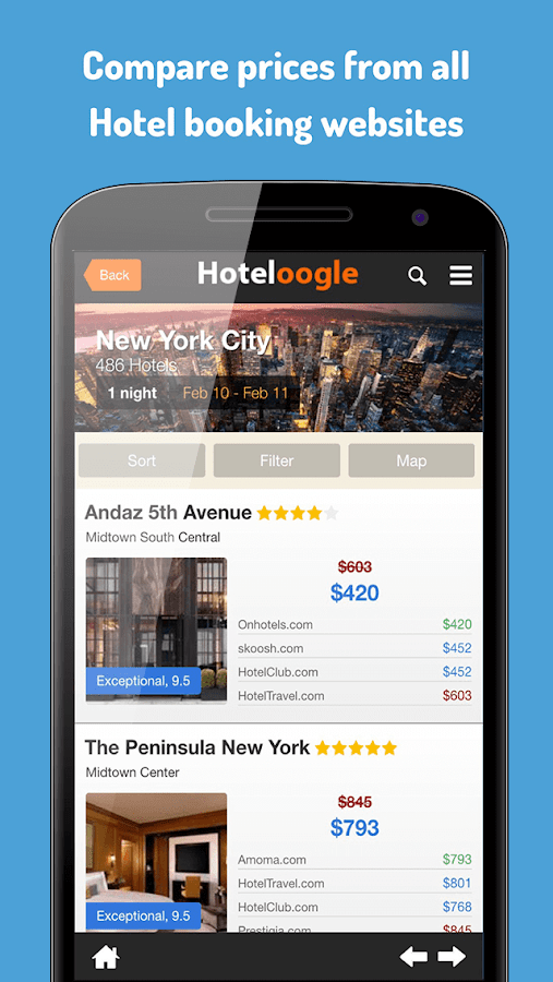 Hoteloogle- screenshot